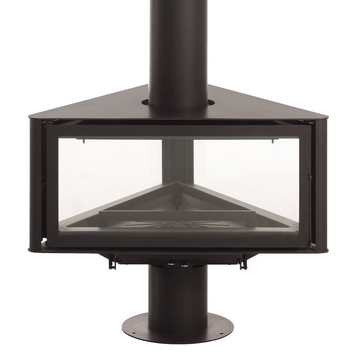 Rocal Born Central Wood Fireplace - Black