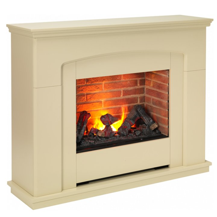 Dimplex Alameda Optimyst Electric Fireplace Suite - Cream