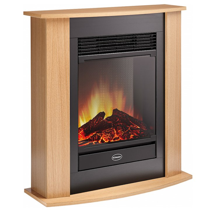 Dimplex Figaro Optiflame Electric Fireplace Suite - Brown