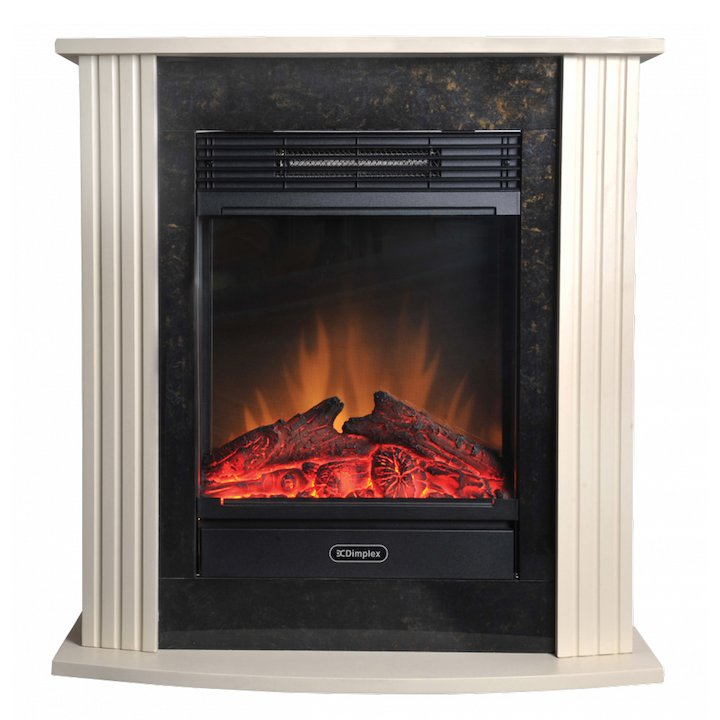 Dimplex Mini Mozart Optiflame Electric Fireplace Suite - Cream