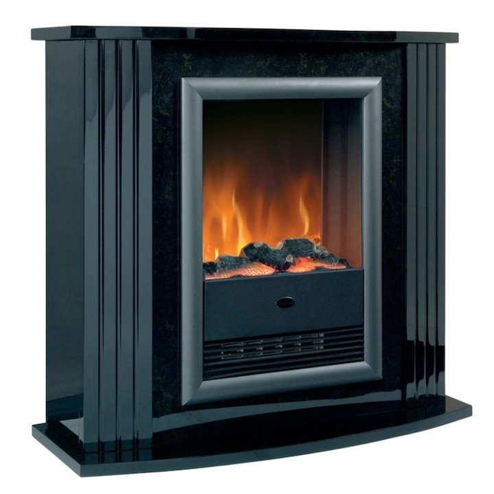 Dimplex Mozart Optiflame Electric Fireplace Suite - Black