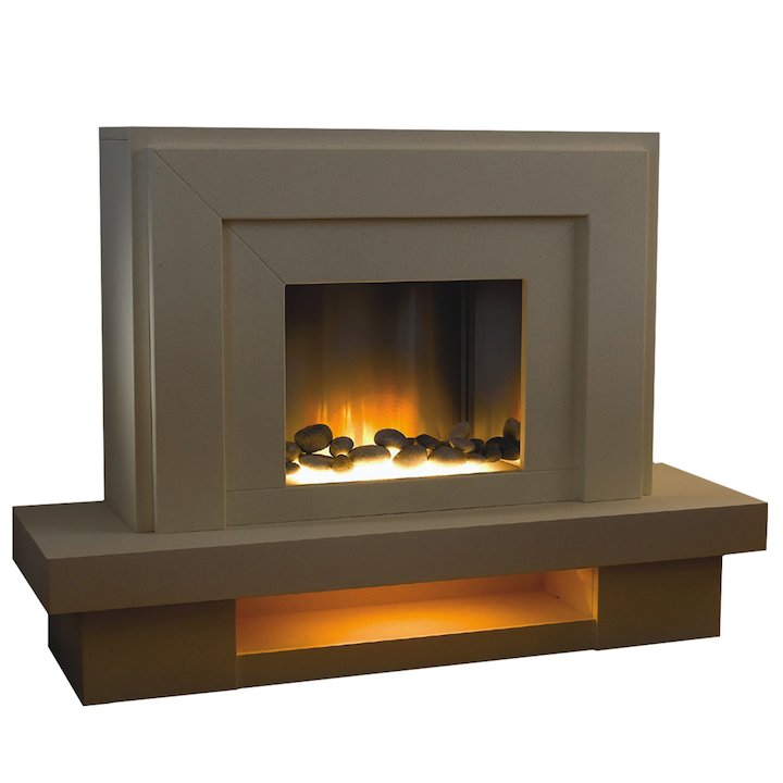 Flamerite Lazio Electric Fireplace Suite - Portland