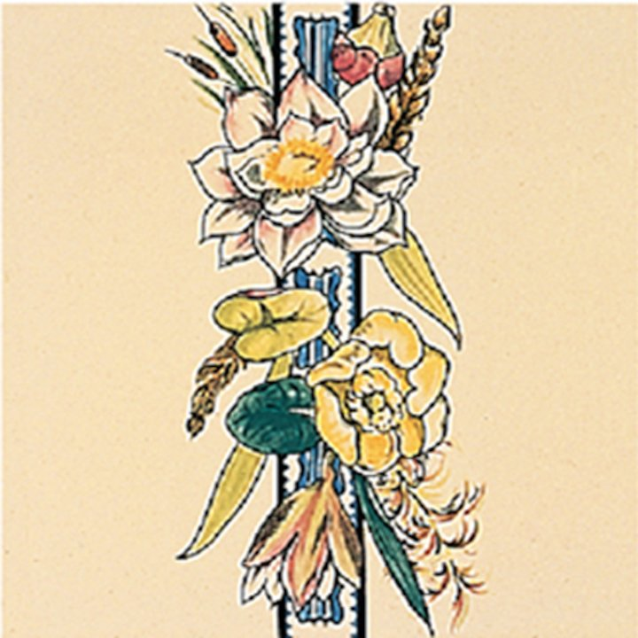 Stovax Birds & Butterflys Ceramic Glazed Hearth Tiles