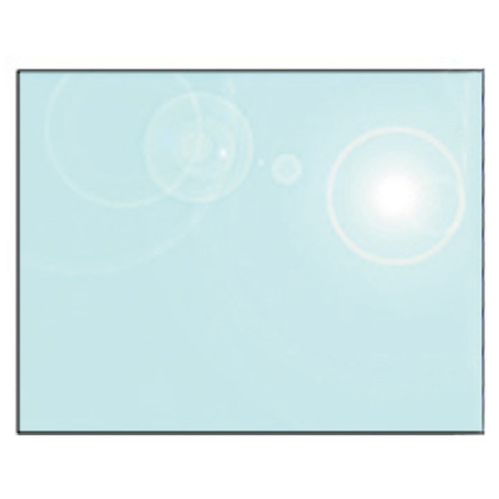EVA 12mm Rectangular Glass Hearth Floor Plate (1100x850) - Clear