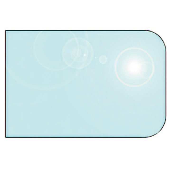 EVA 12mm Rounded Rectangle Glass Hearth Floor Plate (1100x850) - Clear