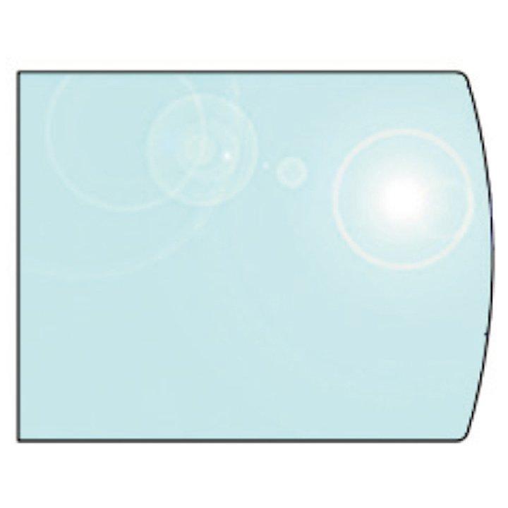 EVA 12mm Extended Full Chord Glass Hearth Floor Plate (1100x800) - Clear
