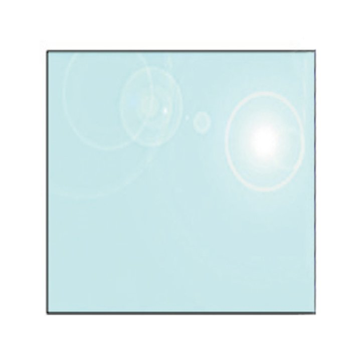 EVA 12mm Square Glass Hearth Floor Plate (900x900) - Clear