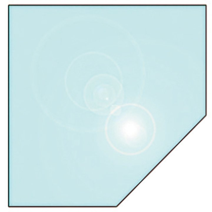 EVA 12mm Clipped Square Glass Hearth Floor Plate (1100x1100) - Clear