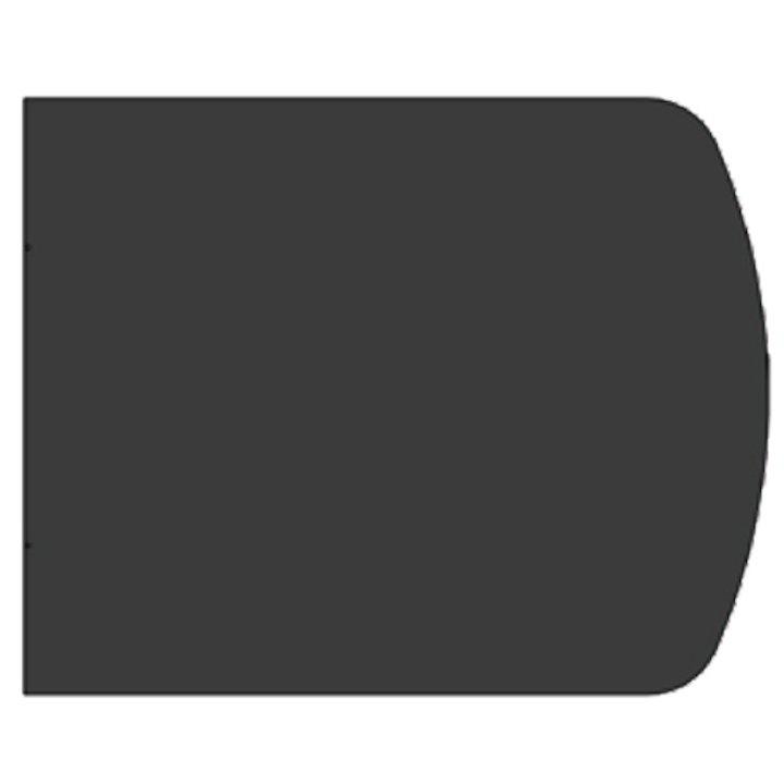 EVA 20mm Extended Full Chord Resin Stone Floor Plate (850x800) - Black