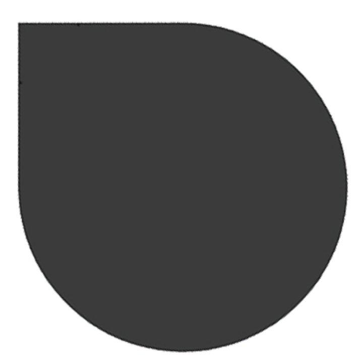 EVA 20mm Teardrop Circle Resin Stone Floor Plate (1330x1100) - Black