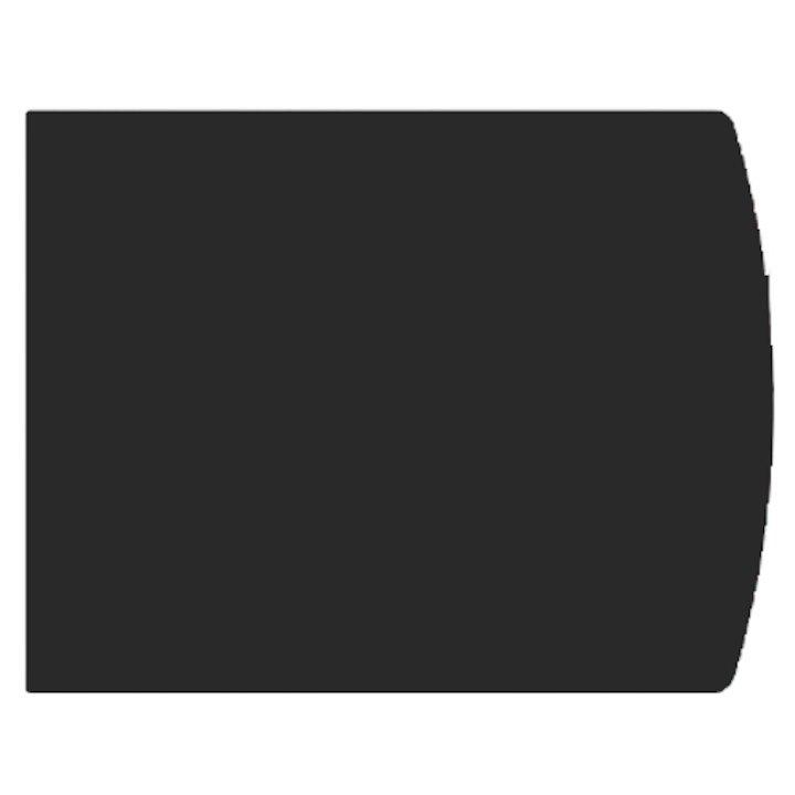 EVA 2mm Extended Full Chord Steel Floor Plate (850x800) - Black