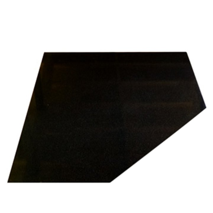 EVA 20mm Clipped Square Polished Black Granite Floor Plate (1000x1000) - Black