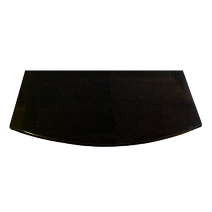 EVA 20mm Full Chord Polished Black Granite Floor Plate (500x1000) - Black