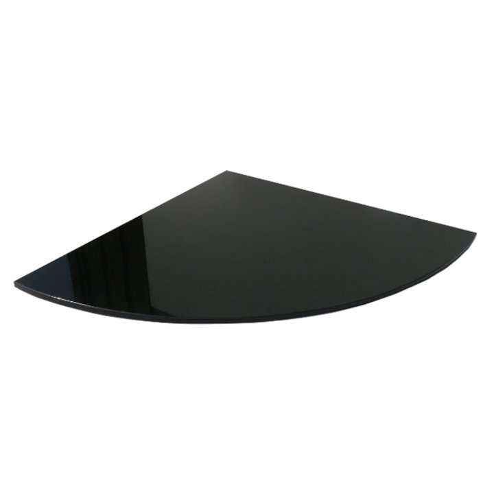 EVA 20mm Quater Circle Polished Black Granite Floor Plate (1100x1100) - Black