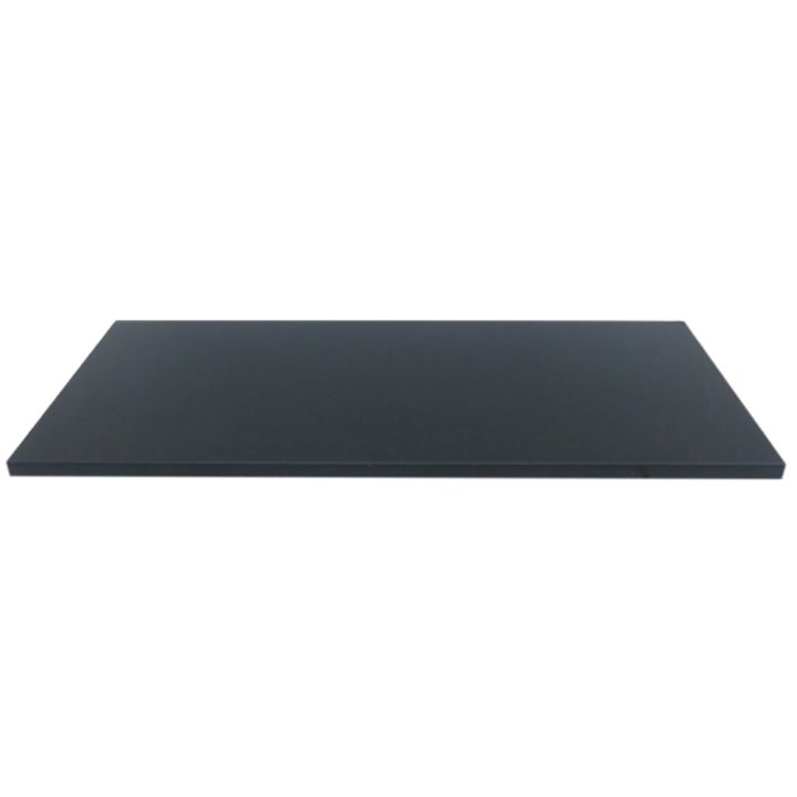 EVA 20mm Rectangular Honed Black Granite Floor Plate (610x915) - Black