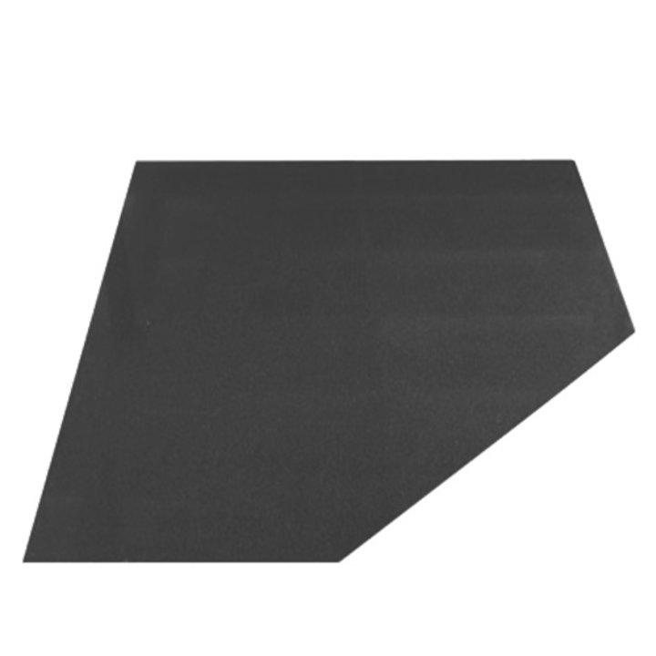 EVA 20mm Clipped Square Honed Slate Floor Plate (1000x1000) - Matt Black