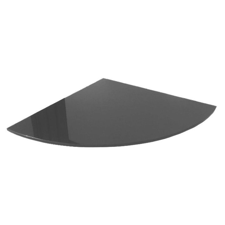 EVA 20mm Quater Circle Honed Slate Floor Plate (1100x1100) - Matt Black