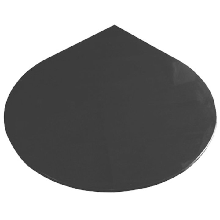 EVA 20mm Teardrop Circle Honed Slate Floor Plate (1100x950) - Matt Black