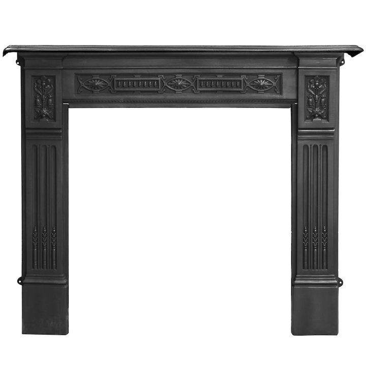 Carron Albert Cast-Iron Fireplace Surround - Black
