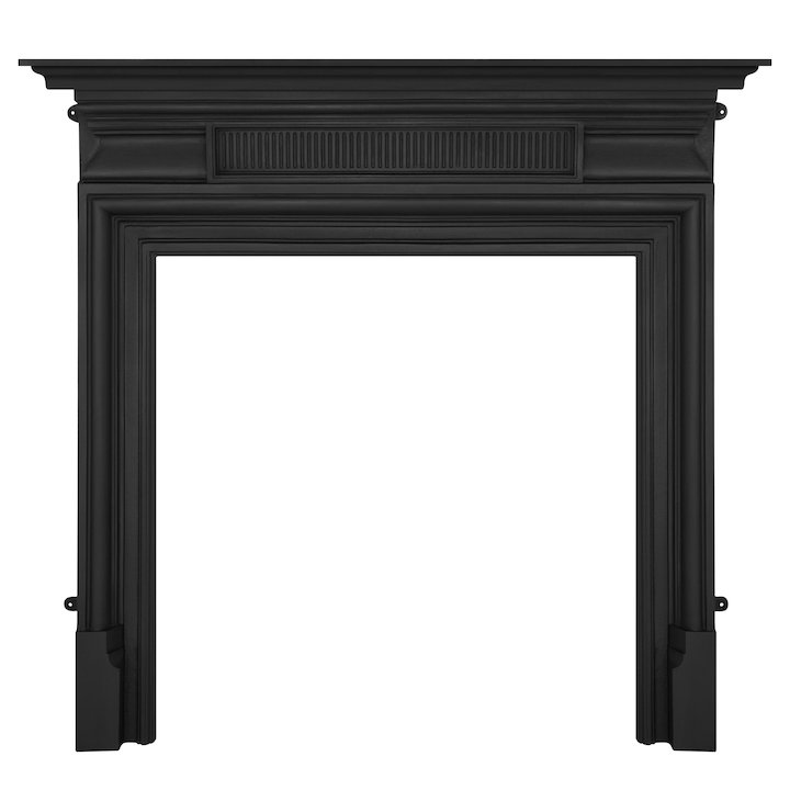 Carron Belgrave Cast-Iron Fireplace Surround - Black