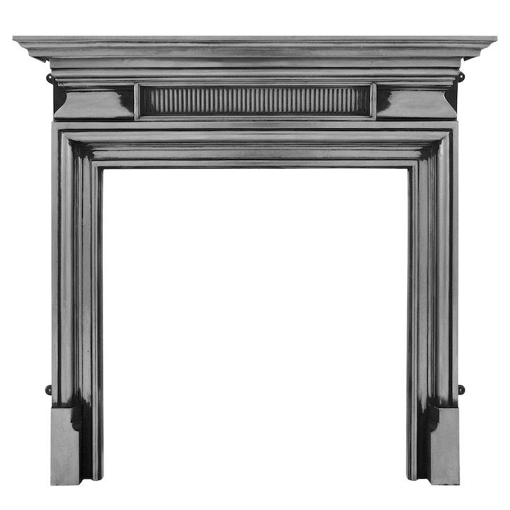 Carron Belgrave Cast-Iron Fireplace Surround - Polished Steel