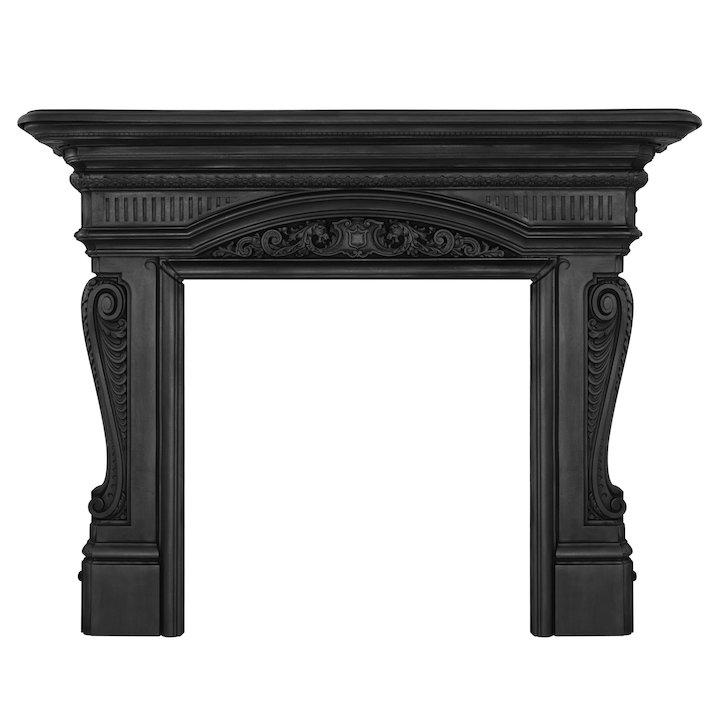 Carron Buckingham Cast-Iron Fireplace Surround - Black