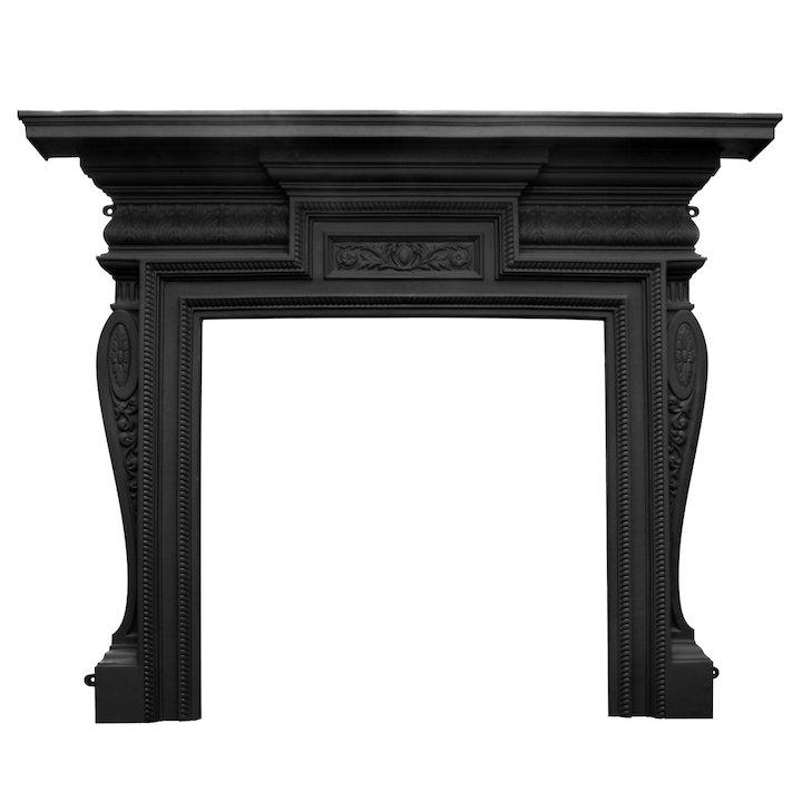 Carron Knightsbridge Cast-Iron Fireplace Surround - Black