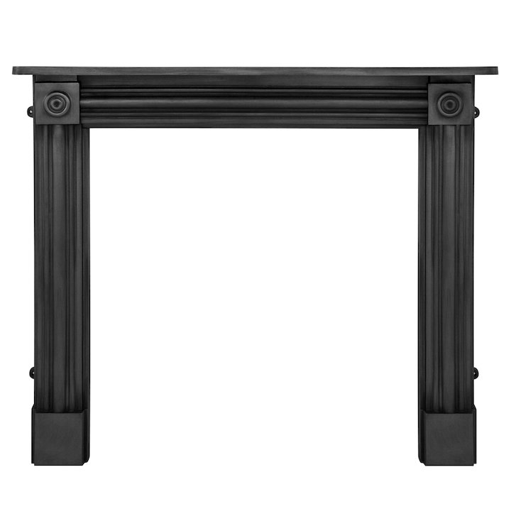 Carron Regent Cast-Iron Fireplace Surround - Black