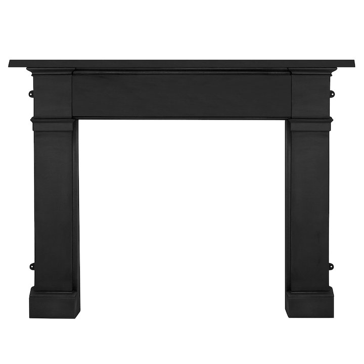 Carron Somerset Cast-Iron Fireplace Surround - Black