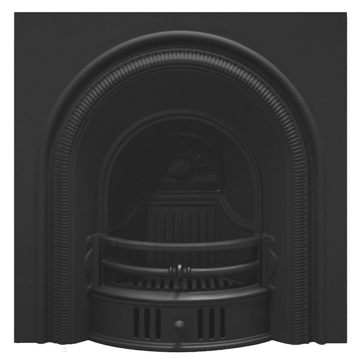 Carron Beckinham Cast-Iron Arched Fireplace Insert - Black