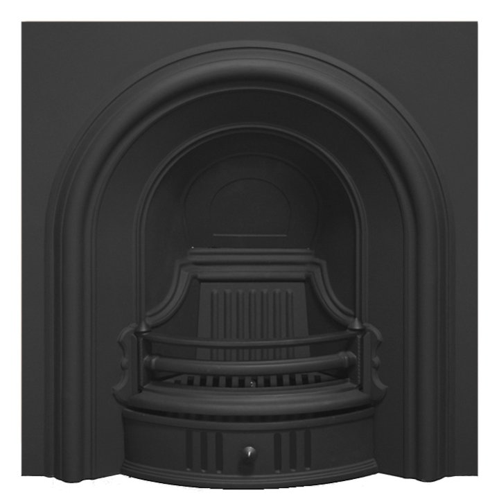 Carron Coleby Cast-Iron Arched Fireplace Insert - Black