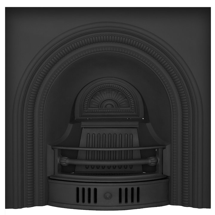 Carron Collingham Cast-Iron Arched Fireplace Insert - Black
