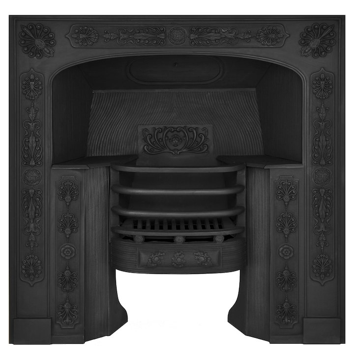 Carron Queensferry Cast-Iron Fireplace Insert - Black