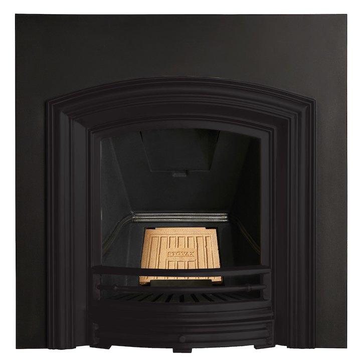Stovax Alexandra Cast-Iron Arched Fireplace Insert - Black