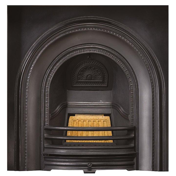 Stovax Decorative Cast-Iron Arched Fireplace Insert - Black