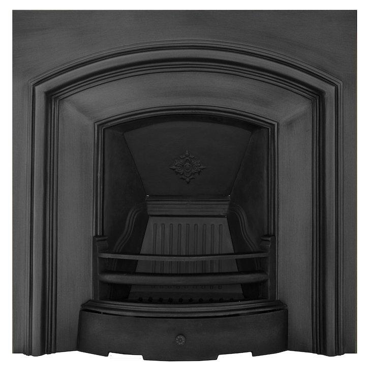 Carron London Plate Cast-Iron Fireplace Insert - Black