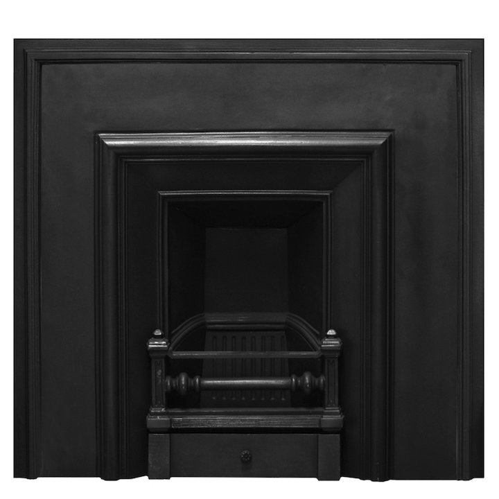 Carron Royal Narrow Cast-Iron Fireplace Insert - Black