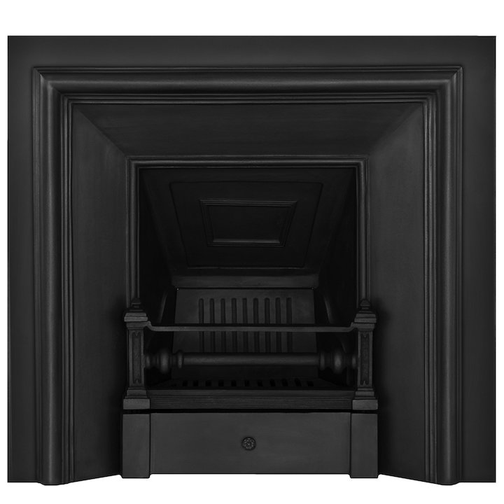 Carron Royal Cast-Iron Fireplace Insert - Black
