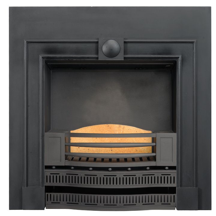 Stovax Kensington Cast-Iron Fireplace Insert - Black