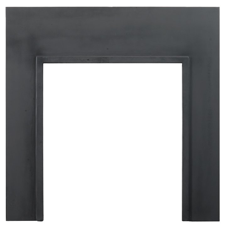 Stovax Chelsea London Front Cast-Iron Back Panel - With 750x660 Opening - Black
