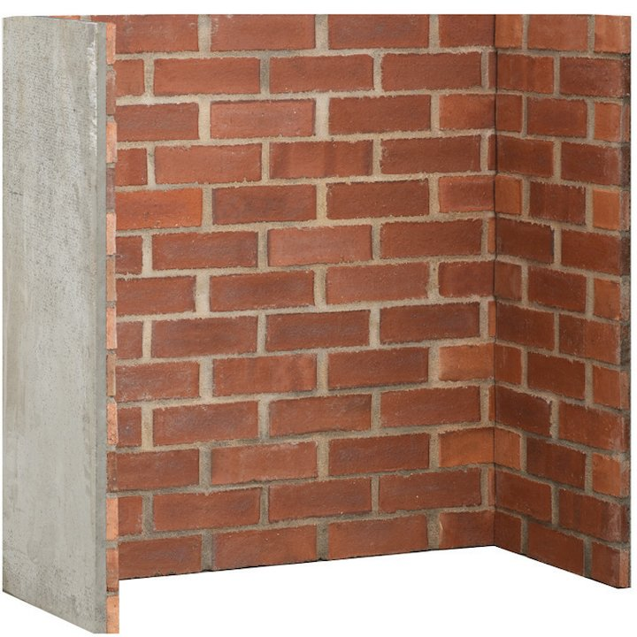 Gallery Cobbled Red Brick Effect Chamber - Complete Lining Set - Red