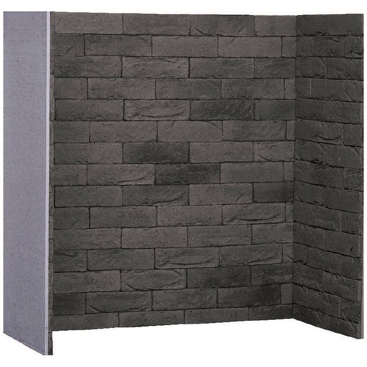 Gallery Pompeii Grey Brick Effect Chamber - Complete Lining Set - Grey