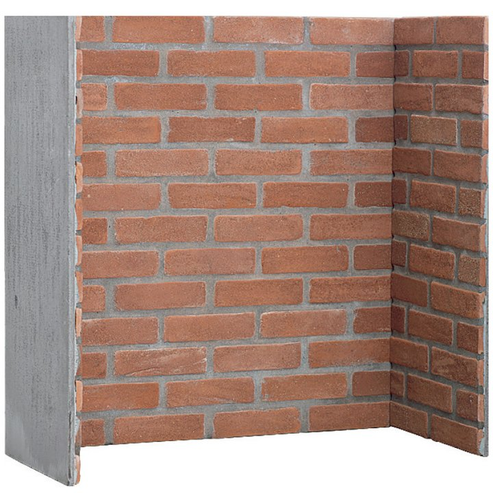 Gallery Red Brick Effect Chamber - Complete Lining Set - Red