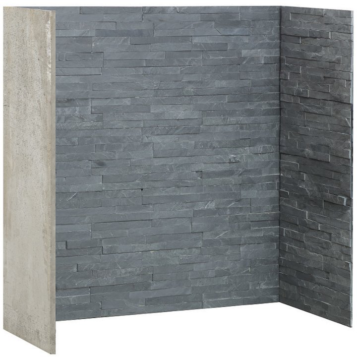 Gallery Riven Slate Effect Chamber - Complete Lining Set - Charcoal