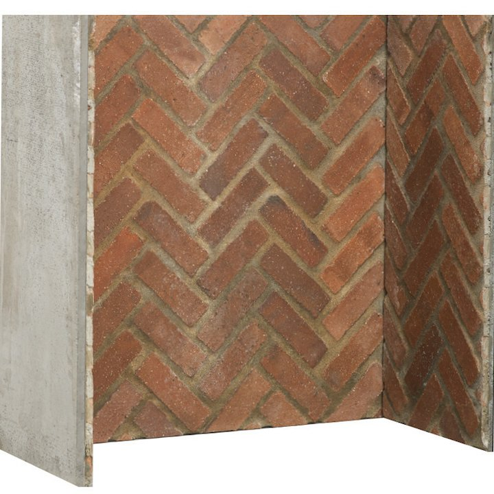 Gallery Rustic Herringbone Brick Effect Chamber - Complete Lining Set - Red