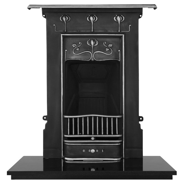 Carron Abbott Cast-Iron Fireplace Combination - Black / Highlight Polish