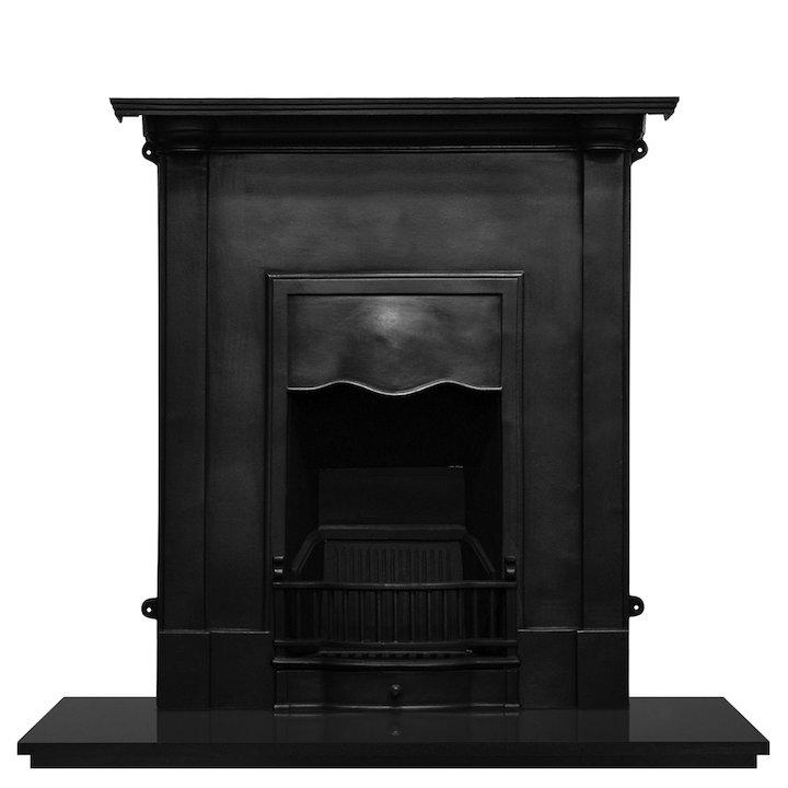 Carron Abingdon Cast-Iron Fireplace Combination - Black