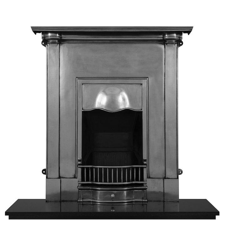 Carron Abingdon Cast-Iron Fireplace Combination - Polished Steel