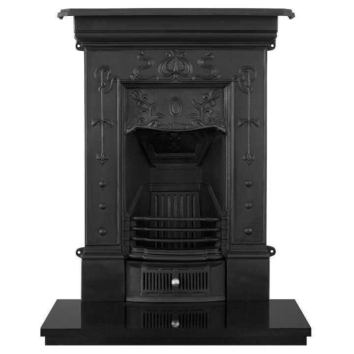 Carron Bella Small Cast-Iron Fireplace Combination - Black