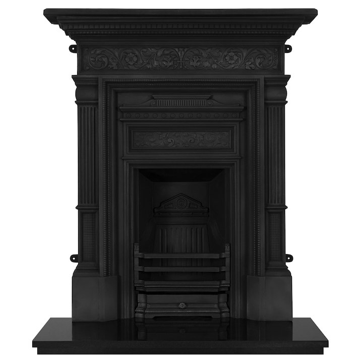 Carron Hamden Cast-Iron Fireplace Combination - Black